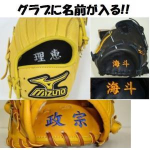 野球グラブ・グローブ 名入れ刺繍(名前入り・オンネーム) ※返品交換不可|liner