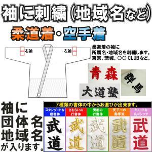 柔道着・空手着 袖刺繍(所属名・地域名) 1文字600円+税|liner