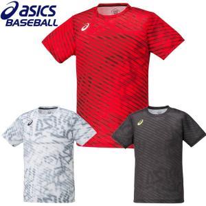 アシックス 野球 ベースボールプリントTシャツ 半袖 liner