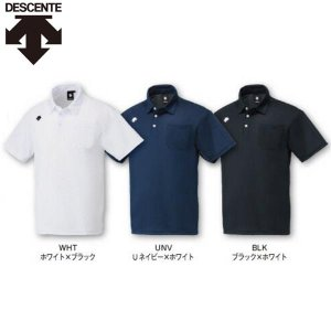 デサント 野球 ポロシャツ ポケット付き liner