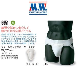 マーシャルワールド 空手 ボクシング ファールカップサポータータイプ MW liner