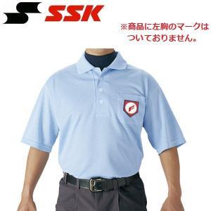 SSK 野球 審判用半袖ポロシャツ|liner