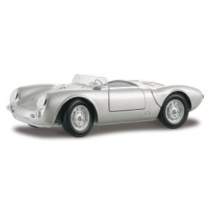 Maisto 1/18 Scale Diecast - 31843 Porsche 550 A Spyder 1955 Silver|lineshonpo