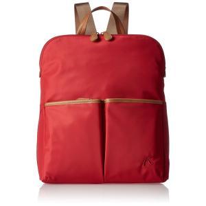 [キタムラ] リュック 前面背面両方にファスナーポケット付き Y-1005 旅行 トラベル 散歩 レッド [赤] 70701|lineshonpo