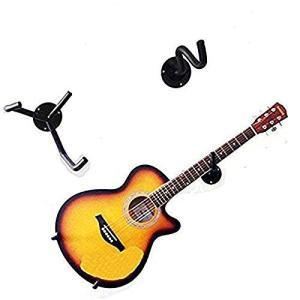 ギターハンガー壁掛け ギタースタンド 取り付けスクリュー付き ブラック ギターフック ベース Wall Hanger for Guitar lineshonpo