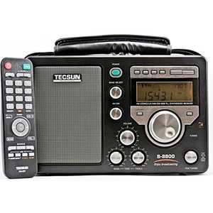 TECSUN S-8800 FM76-108MHz FM/LW/MW/SW 短波ラジオ 100VACアダプター付属 日本語版説明書|lineshonpo