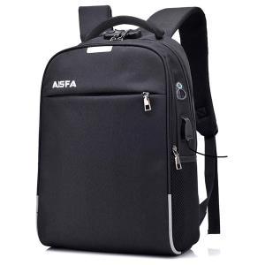 AISFA リュック PC ビジネスバックパック 防水加工 リュックサック大容量 ラップトップバック USB充電ポート付き|lineshonpo