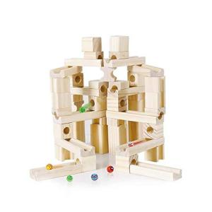 Mag-Building ピタゴラスイッチ 玉転がし 積み木 スロープ 木製 立体パズル 知育玩具 おもちゃ 誕生日 入学 入園 クリスマス プレゼント キュボロお探しの方に (|lineshonpo