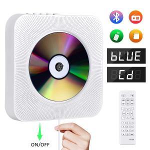 CDプレーヤー 置き&壁掛け式 1台多役 プルスイッチ式 Gueray 2019年最新版 Bluetooth USB対応 microSD LEDディスプレイ 新バージョンのリモコン付き 防塵カバー|lineshonpo