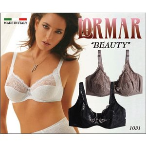 LORMAR/ロルマー【BEAUTY(ビューティ)】 FOR ME DOUBLE 【PIZZI】(フォミーダブル ピッジー) フルコードレース ノンパッド・3/4カップ|lingerie-felice