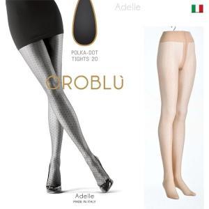 【OROBLU】(オロブル)  Adelle   インポートタイツ  20デニール 薄手ストッキング パンストオールスルー ストッキングオールスルー ドット模様|lingerie-felice