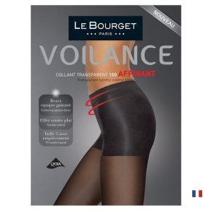【Le Bourget】(ル ブルジェ)   Affinant 15 インポートタイツ 15デニール 腹部サポートストッキング コットンマチ シアータイツ|lingerie-felice