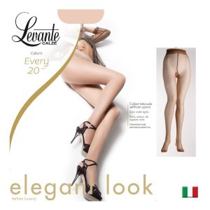 Levante【レバンテ】EVERY20 オールシーズン ライクラファイバー つま先補強付き フラットシーム マット 薄手シアータイツ|lingerie-felice