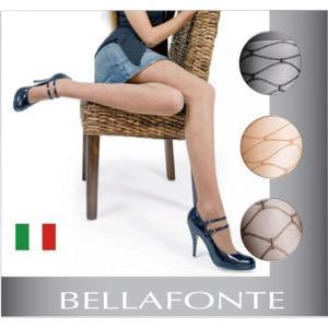 イタリア製/処分特価/【BELLAFONTE】ベラフォンテCRISTALLO ダイヤ柄タイツ40デニール|lingerie-felice