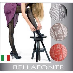 インポートストッキング【BELLAFONTE】AGATA サイドライン柄 パンティストッキング 60D|lingerie-felice