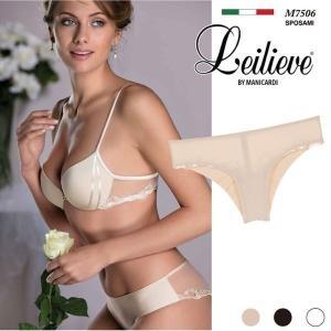 Leilieve/レイリエヴ【SPOSAMI-5】 イタリアインポート Tバック フラワーモチーフ チュール シースルー マイクロファイバー ブラジリアン ショーツ|lingerie-felice