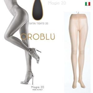 【OROBLU】(オロブル)  Magie 20 インポートタイツ  20デニール 薄手ストッキング オールスルー シルキー サテン lingerie-felice