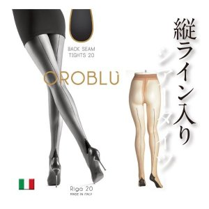 OROBLU/オロブル riga20/インポート/イタリア製 インポートシアータイツ オールシーズン/バックセンターライン/バックシーム シアータイツ|lingerie-felice