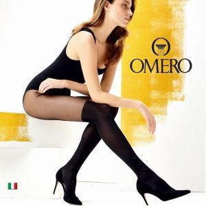 OMERO【オメロ】PAULINE Collant インポートタイツ  LYCRAファイバー つま先スルー コットンガゼット フェイク膝丈タイツ付き シアータイツ|lingerie-felice