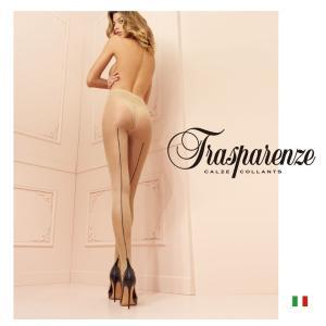 【Trasparenze(トラスパレンツェ)】  Pennac 20 インポート柄物ガーターシアータイツ  20デニール  バックライン入り  柄物シアータイツ|lingerie-felice