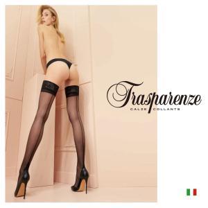 【Trasparenze(トラスパレンツェ)】  Pennac autoreggente インポート柄物ガーターシアータイツ  20デニール  バックライン入り  ガーターシアータイツ|lingerie-felice