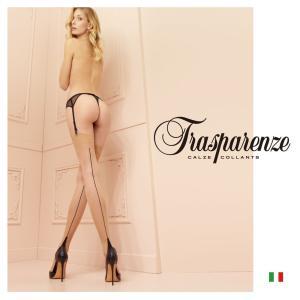 【Trasparenze(トラスパレンツェ)】  Pennac Calza インポート柄物ガーターシアータイツ  20デニール バックライン入り ガーターシアータイツ|lingerie-felice