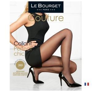 【Le Bourget】(ル ブルジェ)  Perfect Chic 20 インポートタイツ  20デニール 薄手ストッキング つま先補強 足型付き コットンマチ シアータイツ|lingerie-felice