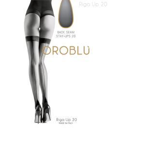 OROBLU【オロブル】ガーター/riga up 20 インポートシアータイツ オールシーズン/バックシーム/シリコンストッパー付き ガーターシアータイツ lingerie-felice