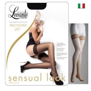 Levante/レバンテ/ガーターストッキング/ ROMANTIC 20den ソフトマットシリコンストッパー付きガーターストッキング/インポート/イタリア製|lingerie-felice