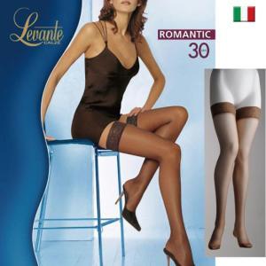 Levante/レバンテ/ガーターストッキング ROMANTIC 30den イタリア製/インポートストッキング/ソフトマットシリコンストッパー付きガーターストッキング|lingerie-felice
