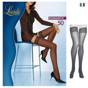 Levante【レヴァンテ】ROMANTIC 50 インポート  レースバンド シリコンストッパー  50デニール ガータータイツ|lingerie-felice
