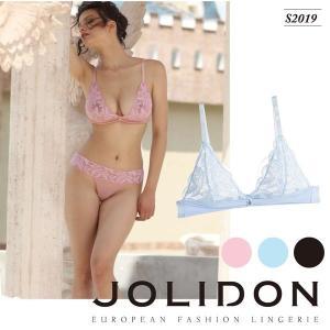 Jolidon/ジョリドン【Love Poeme】 ヨーロッパ インポートランジェリー    シースルーブラ アンダーワイヤーレス 三角ブラ  ノンパッドブラ|lingerie-felice