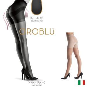 OROBLU/オロブル ショックアップ/shock up 40/イタリア製 インポート オールシーズン/つま先フラットシーム補強 シェイプアップガードル付き|lingerie-felice