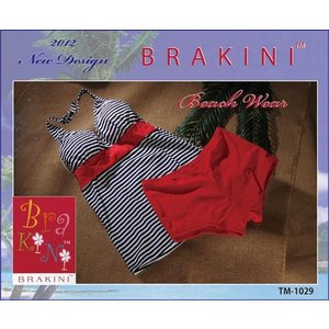 BRAKINI【ブラキニ】タンキニセット  ヨコボーダー柄 2点セット水着|lingerie-felice
