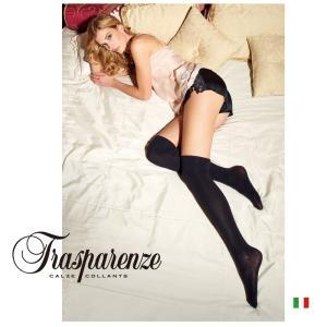 【Trasparenze(トラスパレンツェ)】  WILMA CALZA AL GINOCCHIO インポートニーハイタイツ 厚手タイプ 天然コットン 無地 ニーハイタイツ|lingerie-felice