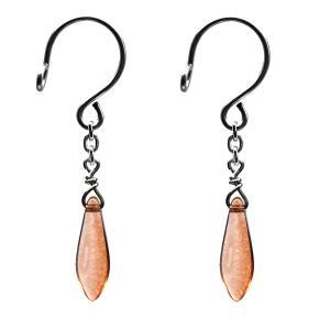 ニップル用ファッションリング チェコガラス ダガー 琥珀 乳首リング 乳首 アクセサリー ピアス|lingerlet