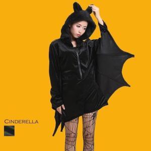 コスプレ ハロウィン コスチューム 仮装パーティー バットガール 蝙蝠 コウモリ 大きいサイズ ブラック 黒 デビル_hw16_ld19 hw1706|lingxiayuu