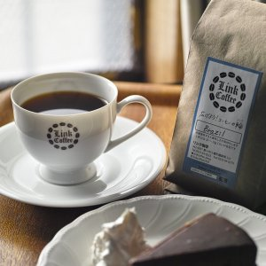 コーヒー豆 200g ブラジル サントス 自家焙煎|link-coffee