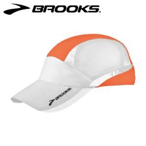 BROOKS (ブルックス) 【最終処分/再帰反射付キャップ】 ナイトライフ メッシュキャップ -ブライトオレンジ- 280173808|linkfast