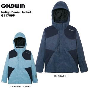 17-18 GOLDWIN(ゴールドウィン)【在庫処分商品】 Indigo Denim Jacket (インディゴ デニムジャケット) G11709P【スキーウェア】|linkfast