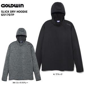 17-18 GOLDWIN(ゴールドウィン)【在庫処分商品】Slick Dry Hoodie(スリックドライフーディー)G51707P【ミドルウェア】|linkfast
