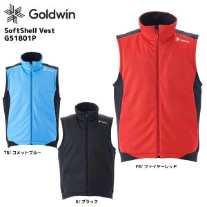 18-19 GOLDWIN(ゴールドウィン)【数量限定商品】Softshell Vest(ソフトシェルベスト)G51801P【ミドルウェア】|linkfast