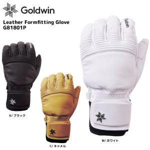 18-19 GOLDWIN(ゴールドウィン)【数量限定商品】 Leather Formfitting Glove(レザーフォームフィッティンググローブ)G81801P【スキーグローブ】|linkfast