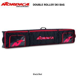18-19 NORDICA(ノルディカ)【バック/数量限定】 DOUBLE ROLLER SKI BAG(ダブルローラーバック)【2台入れスキーケース】 linkfast