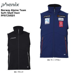 19-20 PHENIX(フェニックス)【ミドル/数量限定】 Norway Alpine Team Soft Shell Vest(NAT ソフトシェルベスト)PF972VE01【ミドルジャケット】|linkfast