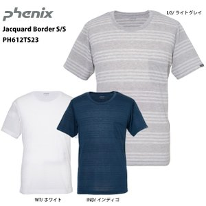 PHENIX(フェニックス)【最終処分品/半袖Tシャツ】 Jacquard Border S/S (ジャガードボーダー ショートスリーブ) PH612TS23|linkfast