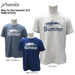PHENIX(フェニックス)【在庫処分品/半袖Tシャツ】 Way to the Summit S/S(ウェイトゥーザサミットショートスリーブ)PH812TS10【アウトドアTシャツ】|linkfast