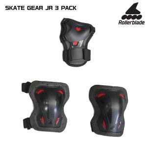 ROLLERBLADE(ローラーブレード)【パットセット】 SKATE GEAR JUNIOR 3 PACK(スケートギア ジュニア3パック)069P0200【保護パット3点セット】|linkfast