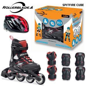ROLLERBLADE(ローラーブレード)【最終在庫処分】 SPITFIRE CUBE (スピットファイヤー キューブ) ジュニアスケートセット|linkfast