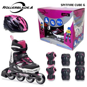 ROLLERBLADE(ローラーブレード)【数量限定商品】 SPITFIRE CUBE G (スピットファイヤー キューブ ガール) ジュニアスケートセット|linkfast